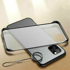 Ultra thin Frameless Matte Case For iPhone 11 Pro Max Clear Silicone Back Cover