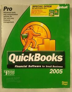 Intuit QUICKBOOKS PRO 2005 FINANCIAL SOFTWARE SMALL BUS PC CD WINDOWS with KEY
