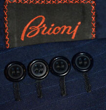 46S Brioni Navy Striped 2 Piece SUIT Pleated 36