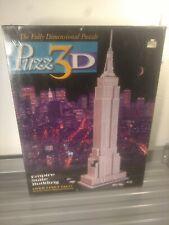 Vintage Puzz3D Empire State Building 3D Puzzle Sealed 1994 902pc Milton Bradley