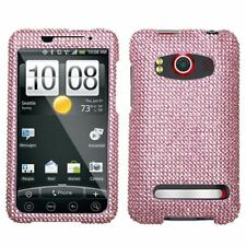 Pink Crystal Bling Hard Case Snap on Cover HTC EVO 4G