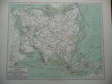 Karte zu Forschungsreisen in Asien, von 1895