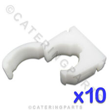 CL108 TALON 10 x HIGH QUALITY 22mm SINGLE HINGED WRAP OVER PIPE TUBE CLIPS WHITE
