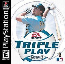 New listing Triple Play Baseball Sony PlayStation 1 PS1 2001 CIB  Nice Complete