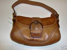 "Coach Soho Leather Small Flap ""Rust Brrown Silver Flap"""