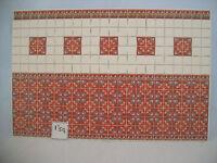 Floor /& Wall Tile Sheet  34353 dollhouse 1pc World /& Model card stock