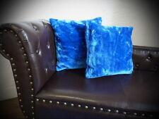 Kissen Kissenhülle Dekokissen im Glanz-Design dunkel blau - Größe wählbar!