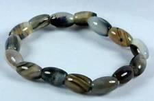 Agate Gemstone Bracelet [A] (7x12mm Beads x15) ** UK