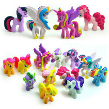12 PCS My Little Pony Action Figure Cake Topper Children Kid Figurines Play Set