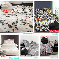 6 Pce  Printed Quilt Cover + Fitted Sheet + 4 P/cases SINGLE DOUBLE QUEEN KING
