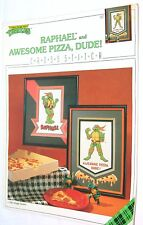 Vintage 1990 TMNT Teenage Mutant Ninja Turtle Counted Cross Stitch Pattern Book