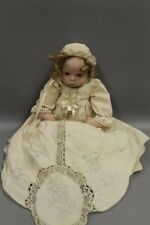 "17"" porcelain baby doll in christening gown"