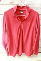 Nike Red Fleece Medium 1/4 Zip Men's Shirt