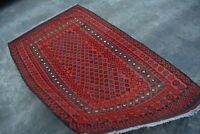 F2403 Handmade Afghan Tribal Vintage wool Ghallmori Area Kilim Rug 3'4 x 5'4 Ft