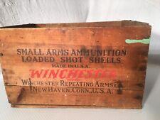 Antique Winchester Ranger 12 Gauge 2 5/8 Inch Ammo Wooden Factory Box