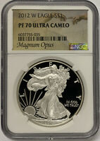2012-W Silver Eagle NGC PF70 Ultra Cameo- Magnum Opus