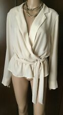 RINASCIMENTO Blouse Woman, cream color, size L  Blusa Donna, colore panna