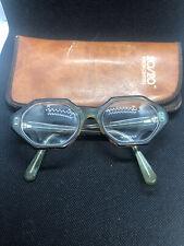 Vintage Unbranded Hexagon Eyeglasses 5 1/2 1950s Pw 35 48-19 Unique Color