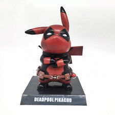 Deadpool Pokemon Pikachu Red Ver. Pocket Monster Cute PVC Figure Model Gift Toy