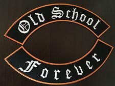 Old school Forever patch bannière xl set par 33x6 CM-rockabilly biker Blouson MC