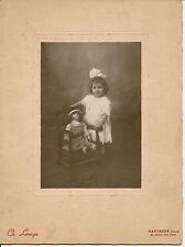 Fillette et sa Poupée c. 1900 - Photo Lesage à Nanterre