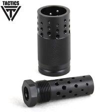 .223 1/2x28RH TPI Muzzle Brake & 13/16-16 threaded Sound Forwarder w/ Washer+Nut