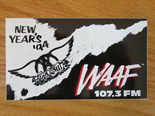 "WAAF 107.3 FM The Garden NEW YEARS EVE 1994 AEROSMITH Concert Tour 6"" Sticker"