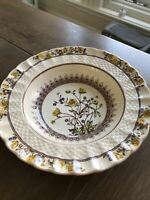 """Spode England fine china Buttercup Rimmed Soup Plate Bowl 7 5/8"""" (new backstamp)"""