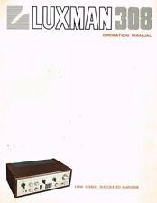 Luxman amplificador 308 l-308 operación manual manual de instrucciones original