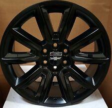 "24"" Wheels & Tires Black Rims Fit Chevy Tahoe Silverado Avalanche Sierra Yukon"