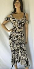 NORMA KAMALI -Vintage Seahorse print 80s 2 piece outfit  Sz M - L skirt and top