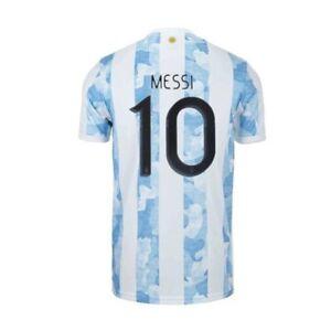 2021 Messi Argentina Jersey Copa America Champions Men's Soccer Football Shirts