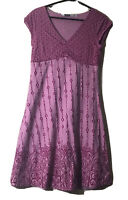 Athleta Floral Stretch Athleisure Dress M Lined Cap Sleeve Moisture Wicking