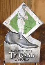 Ty Cobb Shoes Golden Sporting Shoe Baseball Hall of Famer Advertise Counter Sign