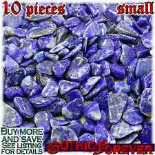 10 Small 10mm Combo Ship Tumbled Gem Stone Crystal Natural - Lapis Lazuli