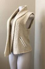 Loft Mohair Wool Blend Open Front Vest Womens Small