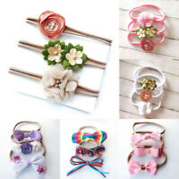 3Pcs Infant Baby Girl Flower Bow Headband Toddler Hair Band Headwear Accessories