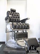 New Custom Button Tufted Barber Chair - Koken, Belmont, Koch, Paidar Style Chair