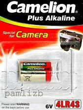 6v 4LR43  Alkaline battery , fits Minox 35 EL GL GT PL PE , 12.7 Dia x 20.5mm L