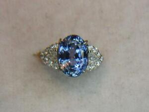10.84CT VS NATURAL CORNFLOWER BLUE CEYLON SAPPHIRE .67CTW DIAMOND PLATINUM RING