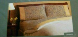 Sonoma Full Size Printed Flannel Sheet Set Cheetah NIP