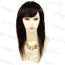Wiwigs 100% Real Human Hair Brown Natural Long Straight/Short Wavy Ladies Wigs