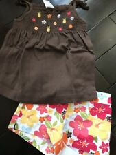 Gymboree Aloha Sunshine brown pineapple top tee floral shorts outfit 2t NWT