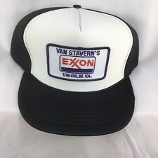 Exxon Patch SnapBack Trucker Mesh Hat Cap Van Staverns Advertising Hat Union WV