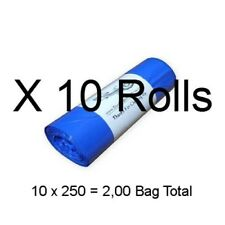 "Dog Waste Bags 2,500 (on 10 Rolls) Printed Biodegradable Pet Poop 8"" X 14"" #20a"