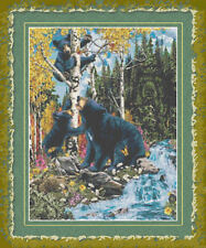THREE BLACK BEARS~COUNTED CROSS STITCH PATTERN ONLY
