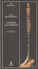 Nuovo! Alberto Giacometti. Yves Bonnefoy. Abscondita. 2004. D47