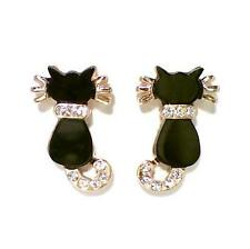 Fashion Jewelry - 18K Rose Gold Plated Cat Stud Earrings (FE047)