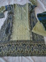 Original Junaid jamshed lawn asim jofa agha noor embroidered khaadi M