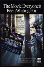 1986 STAR WARS RETURN OF THE JEDI VHS Video Cassette Movie Release VINTAGE AD